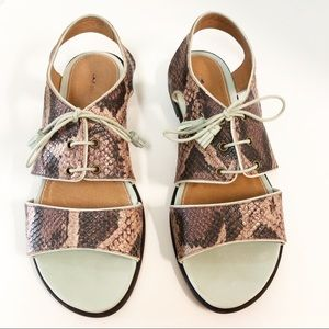 New Anthropologie Schuler & Sons snake sandals